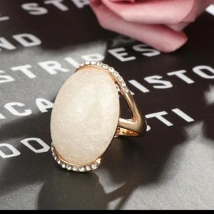 Cream Oval Ring